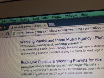 Wedding pianist SEO