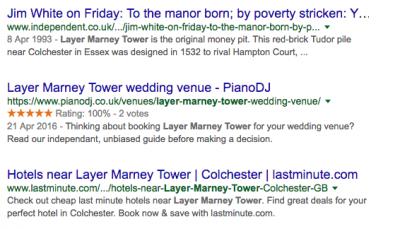 structured data wedding venue reviews